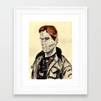 terminator Framed Art Prints featuring Terminator by withapencilinhand