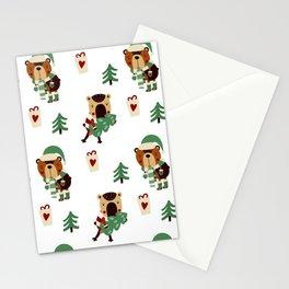 chrismas pattern Stationery Cards