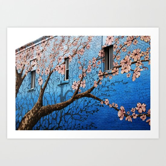 Brick Nature Art Print