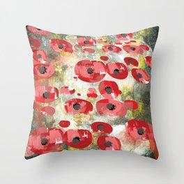 angela's poppies Throw Pillow