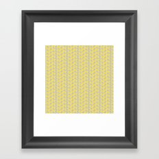 inspired herringbone Framed Art Print