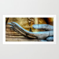 meditation Art Prints featuring Meditation  by Adrian Evans