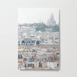 Montmartre Vista - Paris Travel Photography Metal Print