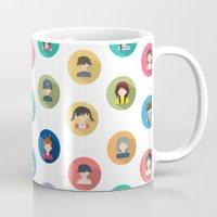 studio ghibli Mugs featuring Studio Ghibli Flat by TubaTOPAL