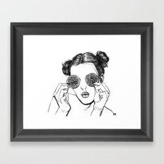 Lemon Framed Art Print