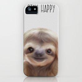 sloth print, children's room decor,  sloth art iPhone Case