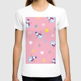 Snowflakes & Snowman_B T-shirt
