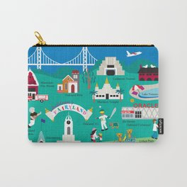 Oakland, California - Collage Illustration by Loose Petals Carry-All Pouch