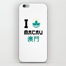 I love Macau iPhone Skin