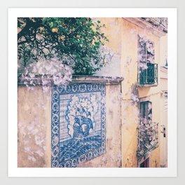 Lemon Trees and Tiles Art Print