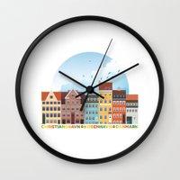 copenhagen Wall Clocks featuring Copenhagen by HOONISME