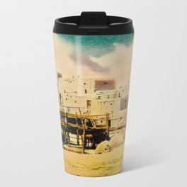 Dreaming of Taos Pueblo Metal Travel Mug