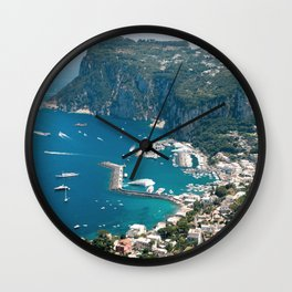 Italy, Capri Landscape View Wall Clock