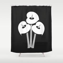 Calla Lily Bouquet (B&W) Shower Curtain
