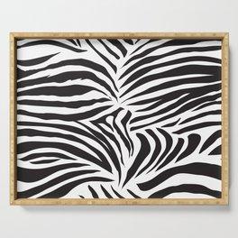 Zebra Pattern Serving Tray