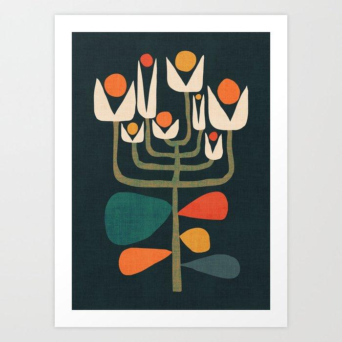 Retro botany Art Print