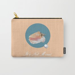 Sea Shell with Pearl B Carry-All Pouch