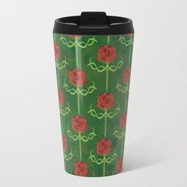 Spring Roses Pattern Travel Mug