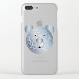 Bubble Bear Clear iPhone Case