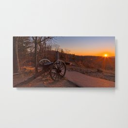 Gettysburg Sunset Cannon Metal Print
