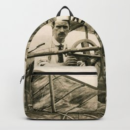 Glenn Curtiss in His Bi-Plane Backpack