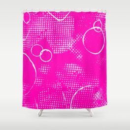 Texture #26 in Hot Pink Shower Curtain