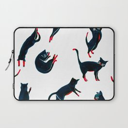 Cats on the move pattern Laptop Sleeve