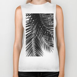Tropical Vibes | Black and White Biker Tank