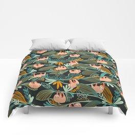 Jungle Sloths Dark Comforters