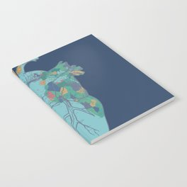 love to travel-world map 2 Notebook