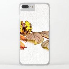 autumn feelings Clear iPhone Case