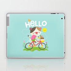 Cat on a bike Laptop & iPad Skin