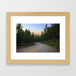 Dirt Road in the Black Hills Framed Art Print