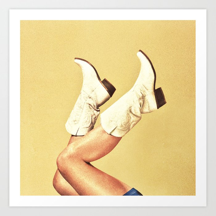 These Boots Yellow Art Print By Mohanadshuraideh Society6