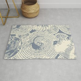 Shells in Cream and Blue Rug