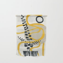 Abstract Yellow Line III Wall Hanging