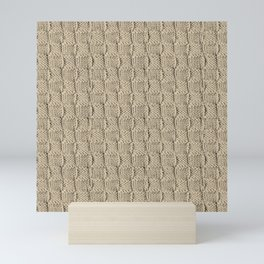 Sepia Knit Textured Pattern Mini Art Print