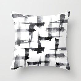 Abstract Brush Stokes Throw Pillow