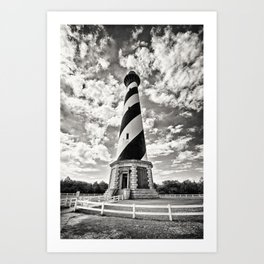Sepia - Cape Hatteras Lighthouse, Outer Banks, NC Art Print
