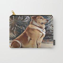A Golden Retriever Carry-All Pouch