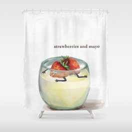 La Cuisine Fusion - Strawberries with Mayo Shower Curtain
