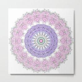 Mandala - Boho - Pastels - Purples Metal Print