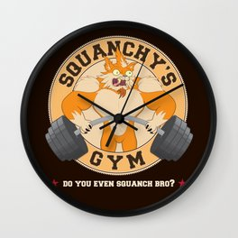 Squanchy's Gym Wall Clock