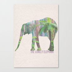 The Lonely Elephant Canvas Print