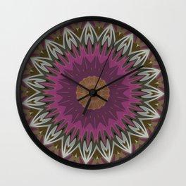 Interrupted Lines Flame Mandala Wall Clock