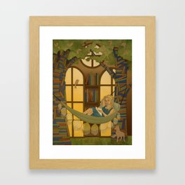 Reading Forest Framed Art Print