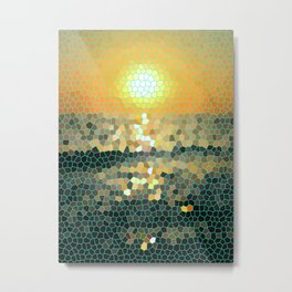Costa Rica Stained Glass Sunset Metal Print