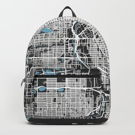 Denver Map Colorado   Black & Blue II  More Colors, Review My Collections Backpack