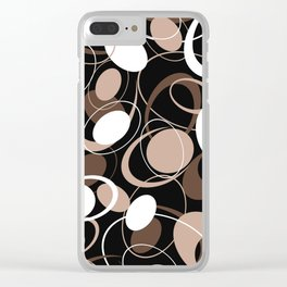 Retro 60s Ovals Clear iPhone Case