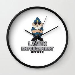 Lawn Enforcement Officer - Gardener Wall Clock